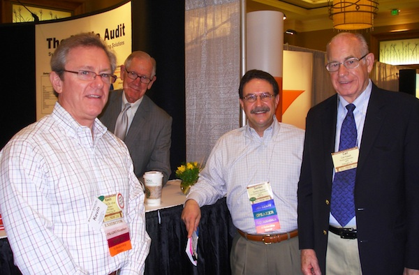 Ft. Worth conference at Media Audit Booth with NPR's Carl Kassel (on right)